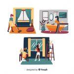 minimalist-characters-doing-housework-set_23-2148271417