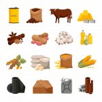 various-commodities-flat-icons-set-with-food-products-materials_1284-8988